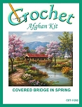 Covered Bridge In Spring Crochet Afghan Kit